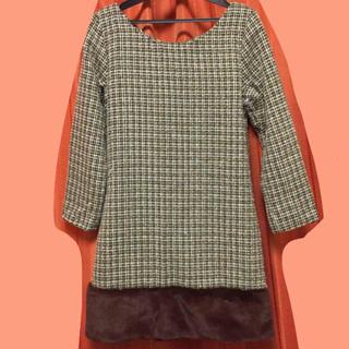 デイライルノアール(Delyle NOIR)のジュリアブティック 裾ファー ツイード ミニワンピース  フレア (ミニワンピース)