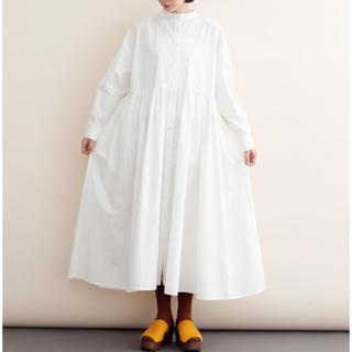 merlot - 完売品 merlot ikyu ビッグシルエット シャツワンピース ホワイト