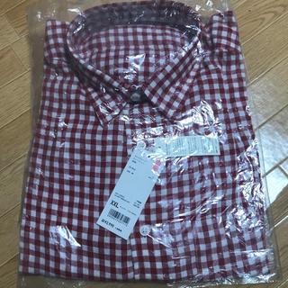 ユニクロ(UNIQLO)のユニクロ 新品 プレミアムリネン長袖 シャツ XX L(シャツ)