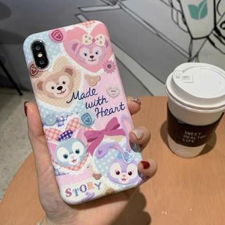 シェリーメィダッフィー フレンズハートウォーミングデイズiPhone 携帯ケース(iPhoneケース)