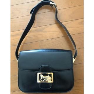 celine - CELINE Shoulder bag leather BlackVintage