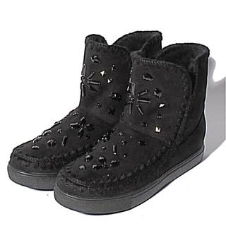 ブリジットバーキン(Bridget Birkin)の新品 ブリジットバーキン bijouキラキラのブーツ BLACK、グレー(ブーツ)