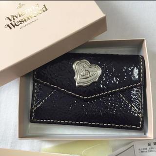 Vivienne Westwood - ヴィヴィアン 名刺 カード 入れ エナメル 濃紫 紺