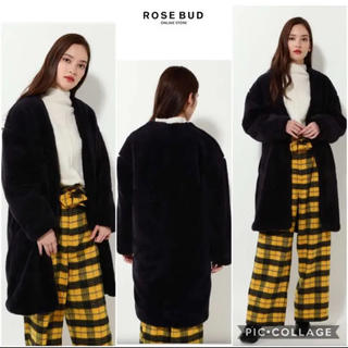 ROSE BUD - 【新品未使用品】ROSE BUD ボア 襟なし ロングコート