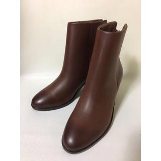 牛革 リアルレザー ブーツ ブラウン オイルレザー 35 22.5cmくらい(ブーツ)