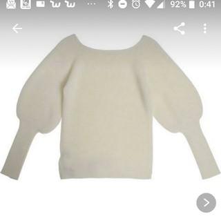 eimy istoire - ボードネックモヘアニットセーター