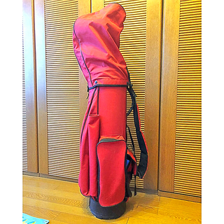 ポロラルフローレン(POLO RALPH LAUREN)のラルフローレン ゴルフバッグ 赤 ほぼ未使用 キャディバッグ(バッグ)