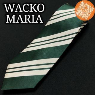 WACKO MARIA - ワコマリア レジメンタル グリーン ネクタイ 試着程度 A101-S17