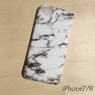 IP003 大理石 マーブル iPhoneケース ホワイト 7/8(iPhoneケース)