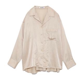 snidel - 【新品タグ付き】スナイデル 今季 シルクライクシャツ ライトベージュ