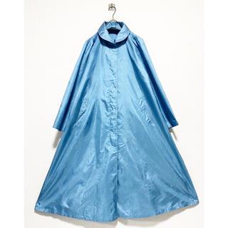 BURBERRY - vintage ヴィンテージ ブルー 青 変形 ロングコート ステンカラーコート