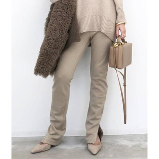 L'Appartement DEUXIEME CLASSE - アパルトモン Wool Zip Leggings ウールレギンス ベージュ