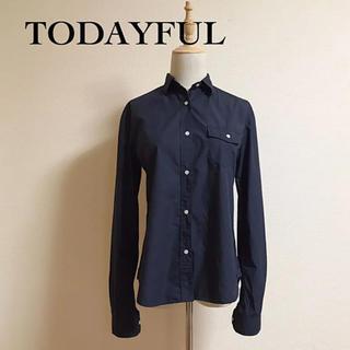 トゥデイフル(TODAYFUL)のTODAYFUL  タイプライタークロスシャツ  サイズ38(シャツ/ブラウス(長袖/七分))