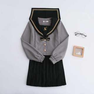 【送料無料】セーラー服スカート2点セット レディース秋刺繍Mz177(カットソー(長袖/七分))