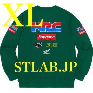 シュプリーム(Supreme)のXL Supreme HONDA Fox Racing Crewneck(スウェット)