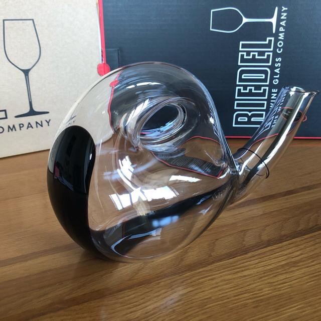 RIEDEL(リーデル)のリーデル デキャンタ エスカルゴ 未使用新品 インテリア/住まい/日用品のキッチン/食器(アルコールグッズ)の商品写真