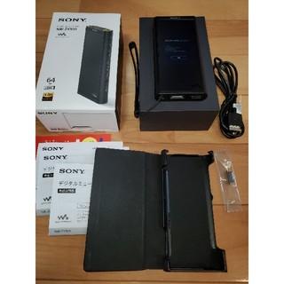 SONY - 美品SONY■NW-ZX300 64GB ブラック■WALKMAN ケース付