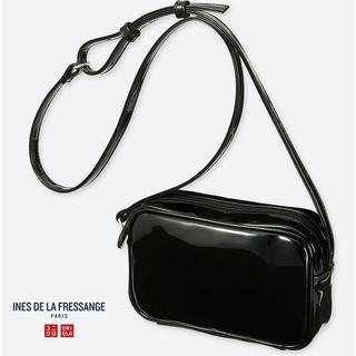 UNIQLO - 新品タグ付★イネス限定2エナメルショルダーバック定番ブラック