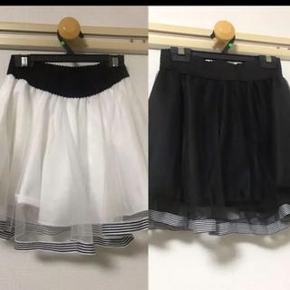 ミンプリュム(min plume)のセットチュールスカートmin plumeミンプリュム色違いインナースカートズボン(ミニスカート)