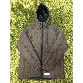 ファイブオー(FIVE O)のFIVE O DUPPIES tweed down jacket XL ブラウン(ダウンジャケット)