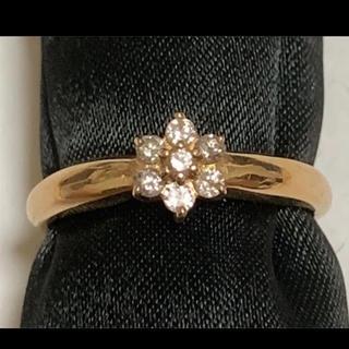 k18金&天然ダイヤモンド0.17指輪 リンク 12号 約2.7gピンクゴールド(リング(指輪))