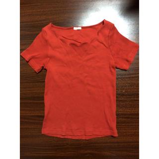 オレンジ色の服👚(Tシャツ(半袖/袖なし))