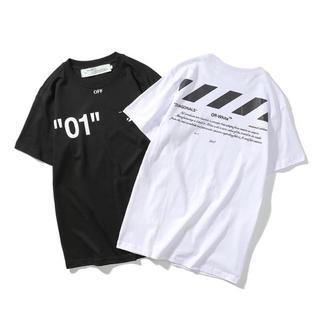 大人気! 「即日発送」off-white ナンバー 人気黒 夏物  tシャツ (Tシャツ/カットソー(半袖/袖なし))