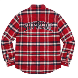 Supreme - 17AW Quilted Arc Logo Flannel Shirt