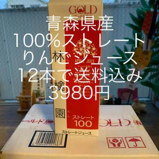 青森県産100%ストレートりんごジュース(フルーツ)