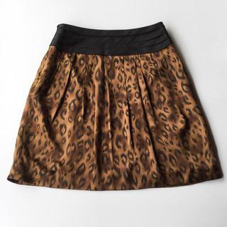 ボールジィ(Ballsey)のBALLSEY アニマル柄のシルクスカート 36 S(ミニスカート)