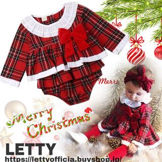 クリスマス コスチューム ワンピース ロンパース ドレス ベビー服 サンタ 衣装