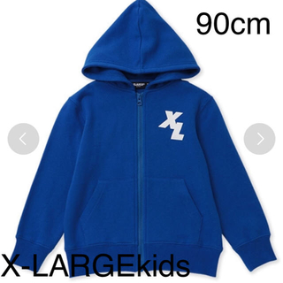 エクストララージ(XLARGE)の新品☆X-LARGE kids パーカー 90cm ブルー(ジャケット/上着)