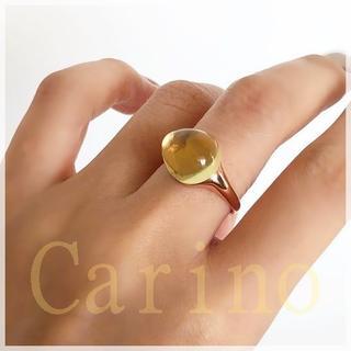 大粒 しずくしたたる レモンクオーツ リング(リング(指輪))