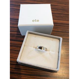 エテ(ete)のete  ピーチピンキーリング 指輪 K10(リング(指輪))