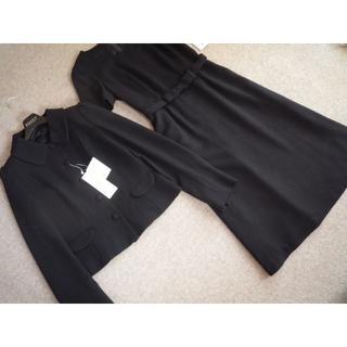トゥービーシック(TO BE CHIC)の大きいサイズ新品 TO BE CHIC 上質ワンピーススーツ 48 濃紺お受験(スーツ)