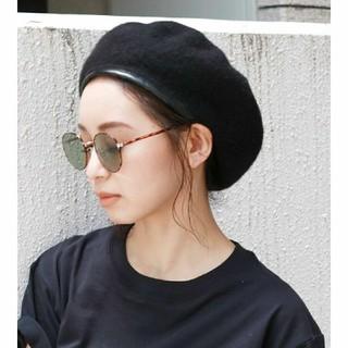 アングリッド(Ungrid)のungrid パイピングベレー帽 ブラック(ハンチング/ベレー帽)