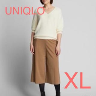 UNIQLO - ユニクロ ポンチワイドクロップドパンツ XL