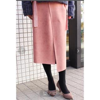 MODE ROBE  アシンメトリー スウェードスカート(ひざ丈スカート)