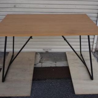 MUJI (無印良品) - 120cm 無印良品  良品計画 MUJI 折りたたみテーブル オーク材