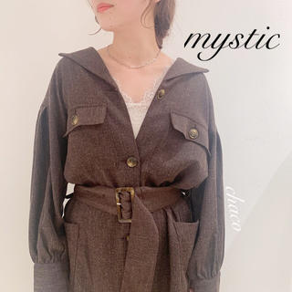 mystic - 秋冬新作🌷¥10450【mystic】サファリワンピース コートワンピース