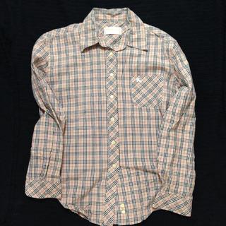 BURBERRY - Burberrys  レディース 長袖シャツ ベージュチェック ホース刺繍
