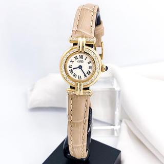 Cartier - 【仕上済/ベルト2色】 カルティエ コリゼ ゴールド ダイヤ レディース 時計