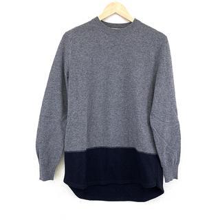 マルニ(Marni)の美品 MARNI マルニ ニット 長袖 セーター 44 グレー 無地 シンプル(ニット/セーター)