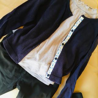 GU - 130㎝女の子3点セット✳︎カーデ スキニーパンツ カットソー✳︎