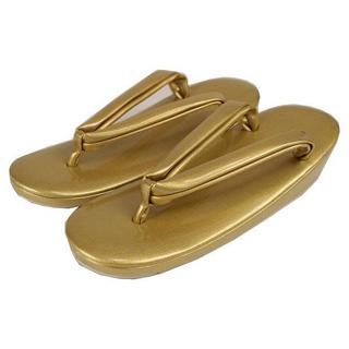 高級 礼装用 GLZ 草履 ゴールド LLサイズ 日本製(下駄/草履)