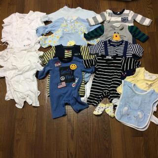 新生児 肌着 カバーオール ロンパース ベスト 靴下 セット 50〜70センチ(カバーオール)