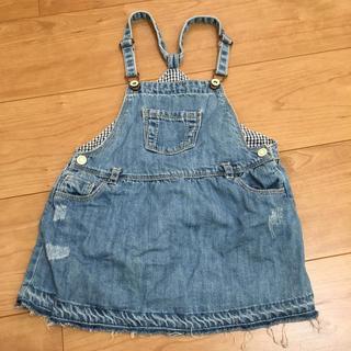 ザラ(ZARA)の女の子 子供服 95 Zara BabyGirl デニム ダメージ風(ワンピース)