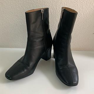 ユナイテッドアローズ(UNITED ARROWS)のユナイテッドアローズ ショートブーツ 24.5 スクェアトゥブーツ(ブーツ)
