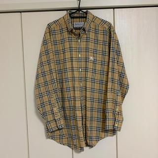 BURBERRY - 極美品バーバリーロンドン ノバチェック 長袖シャツ 90's VINTAGE L