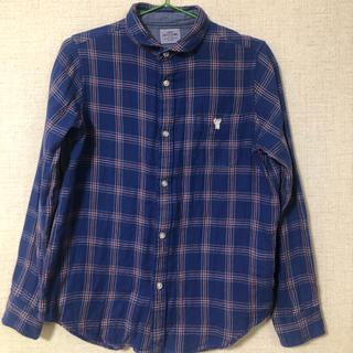 coen - ブルーチェックシャツ